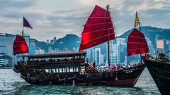 Hong Kong (e.glasov) Tags: hongkong city kowloon dusk ship sea boat pirates seaside lights view motion   sony a6300
