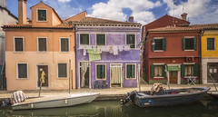 Burano (olemoberg) Tags: burano venice venezia italy italia canal boat houses