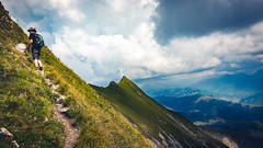 The Climb (Electric Fog) Tags: mountains mountain mount mont climbing trekking walk walking nature beauty landscape switzerland swiss scenic sky green colorful colors people peak nice weather powerful