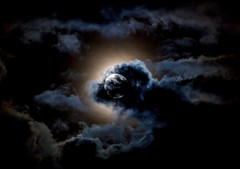 Depths of the Heavens (ebhenders) Tags: full moon clouds light