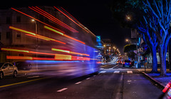 tech invasion (pbo31) Tags: california nikon d810 october fall 2016 bayarea night dark black boury pbo31 color sanfrancisco lightstream motion motionblur city urban bus polkstreet infinity traffic polkgulch google russianhill shuttle red blue