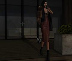 #LacedByMai (Roxy Olsonne) Tags: leather lace black oxblood fur fashion fashionable infashion trendy trendreport slfashionblogger slink cowhide bag boots chic hot loveit glam fashionweek fashionforward streetfashion fallwinter2015 beautiful