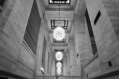 Grand Central Lighting (John Flinchbaugh) Tags: station grandcentralterminal symmetry nyc photoplusexpo newyork newyorkcity 2016 chandelier ceiling lancaster pennsylvania unitedstatesofamerica usa