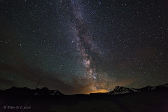 Stars rose over Heavens (ScorpioOnSUP) Tags: glaciernationalpark heavenspeak montana mtcannon adventure astrophotography clouds galaxy landscape landscapephotography mountainrange mountains nature night nightphotography nightsky outdoors peaks sky stars theloop