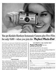 Perfect Photo Club, 1965 (Tom Simpson) Tags: kodak hawkeye instamatic camera ad ads advertising advertisement vintage vintagead vintageads photos photography 1965 1960s instamaticcamera hawkeyeinstamaticcamera