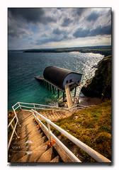 Padstow Lifeboat Station (jeremy willcocks) Tags: lifeboat lifeboatstation padstow cornwall landscape seascape colour steps rail building sea sky cliffs rnli rescue fujixt10 xf1024 jeremywillcocks wwwsouthwestscenesmeuk uk coast