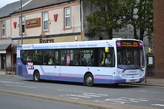 First Lanarkshire 67849 SN13EEO (Will Swain) Tags: hamilton central bus station 6th october 2016 buses transport travel uk britain vehicle vehicles county country scotland city town glasgow first lanarkshire 67849 sn13eeo