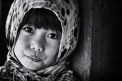 Faces of Gonna 1 (Collin Key) Tags: portrait girl child face tanatoraja maruang scarf indonesia blackandwhite sulawesi idn