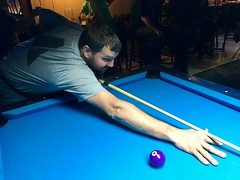 Hangin with one of my favorite veterans. Happy veteran's day, y'all. (broox) Tags: billiards chuckmcgrane