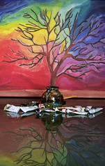 Tree of colours... (Gianna Fou.) Tags: colourful tree drawing painting reflection acrylics