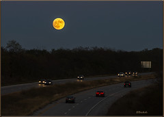 Super Moon Over the Interstate (brite star creations) Tags: night supermoon dark canon70200mm canon1dx historic perspective sky nature