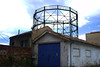 Gasómetro (Jusotil_1943) Tags: gasometro gas fabrica oviedo casetas puerta azul