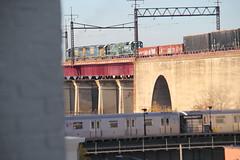 IMG_1614 (GojiMet86) Tags: csx nya atlantic conrail mta bmt nyc new york city railroad subway train 1976 1992 2008 2016 gp382 r160b sd60m 268 300 5511 5520 8761 8765 8868 astoria ditmars blvd nycr connecting viaduct