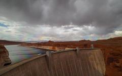 The Rainbow over Glen Canyon Dam (Fizzik.LJ) Tags: dam glencanyon rainbow lakepowell arizona usa spring clouds az