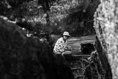 Gangster mum (Richard Mart1n) Tags: monochrome travel waverock blackandwhite nikon d5000 mum portrait abstract art awesome