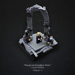 The Veil (Vaionaut) Tags: lego harrypotter orderofthephoenix harry potter lucius malfoy sirius black prophecy