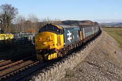 37403 Grange over Sands 24th November 2016 (John Eyres) Tags: 37403 isle mull slowing for grange over sands with morning 2c47 1004 preston barrowinfurness 241116