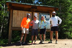 With Jetboil and Cam at the Elkhart Park trailhead. They were biking the Continental Divide. We had a great time together in Pinedale.