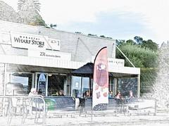 Al fresco life - Maraetai, Auckland, New Zealand (Sandy Austin) Tags: auckland maraetai southauckland cafe alfresco dining northisland newzealand outdoor alteredstates