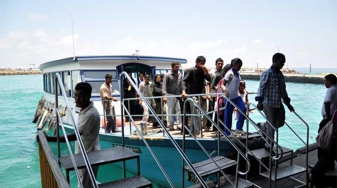 Phà công cộng ở Maldives