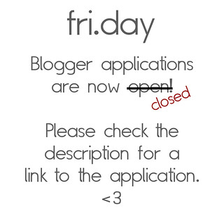 Update: fri.day Blogger appllications are now closed!