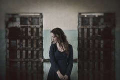 Locked away (Anna Gorin) Tags: portrait woman girl canon vintage sadness 50mm indoors prison thepast textured oldidahopenitentiary 5diii