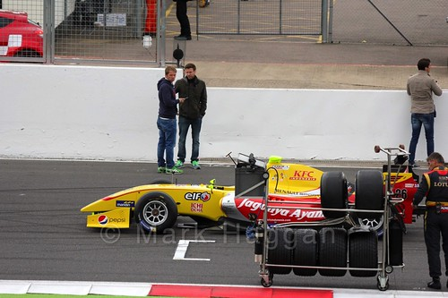 Tom Dillmann on the Grid for the Formula Renault 3.5 Saturday Race at Silverstone