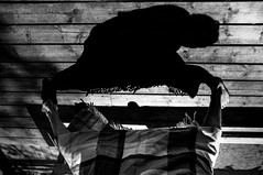 stride. (jonathancastellino) Tags: wood shadow abstract silhouette friend legs walk leg deck step figure cloth stride