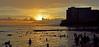 Sunset Slice (jcc55883) Tags: ocean sunset sky silhouette clouds hawaii nikon waikiki oahu horizon pacificocean nikond3200 d3200 kuhiobeachpark