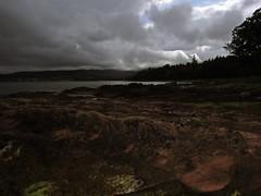 Gimme Shelter (Bricheno) Tags: rain island scotland clyde escocia geology brodick arran isleofarran szkocja schottland scozia cosse firthofclyde  esccia cladach  scotlandinminiature  claddach bricheno scoia