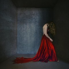 trapped (brookeshaden) Tags: miniature surrealism fineart behindthescenes selfportraiture reddress videoblog