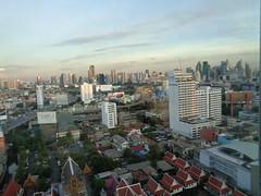 Uitzicht uit hotelkamer in Bangkok