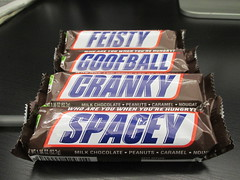 Snickers - A Candy Bar With a Midlife Crisis 2633 (Brechtbug) Tags: new york city nyc mars food halloween bar october with candy chocolate identity snickers stuff goofball brand candies confusion cranky crisis feisty snicker midlife spacey schizophrenic 2015 a 10022015