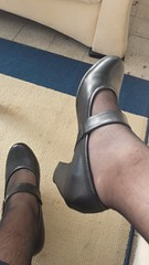 20150930_123700_Richtone(HDR) (microklein50) Tags: feet high sandals flats heels nylon birkenstock leggings ballerinas leggins stckel ballarinas