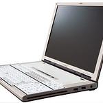 会計業務用ノートパソコンの写真