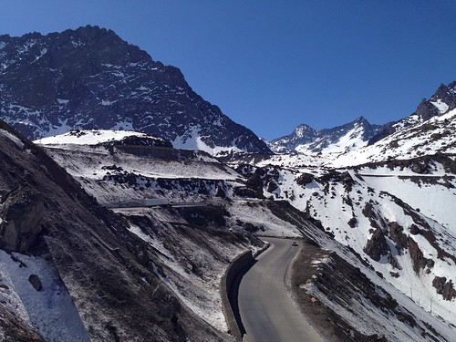 View of mountain passes