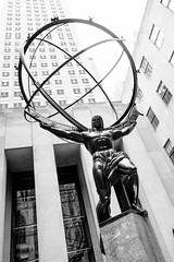 The weight of the world (emrold) Tags: nyc bw statue rockefellercenter lookingup xt1 1125secatf80 xf1855mmf284rlmois fujifilmxt1 2152015 215in2015 image141215 2015emrold|ericdelorme