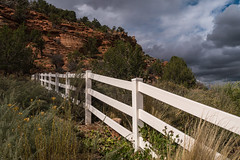 stormy day fence (montrealmaggie) Tags: white clouds fence utah nearkanab