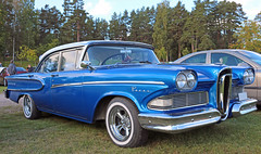 1958  Edsel Pacer (crusaderstgeorge) Tags: cars sweden edsel 1958 sverige classiccars pacer americancars högbo bluecars americanclassiccars 1958edselpacer