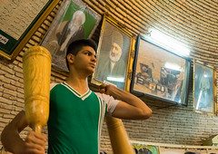 iranian man wielding wooden clubs during the traditional sport of zurkhaneh, Yazd Province, Yazd, Iran (Eric Lafforgue) Tags: people man male men sport horizontal training persian athletic adult iran muslim performance middleeast persia bodybuilding indoors clubs shia ritual tradition activity kashan sufi sufism cultures oneperson yazd zurkhaneh shiite practising waterreservoir exercising youngadultman persiangulfstates traditionalsport  onlymen onemanonly waistup  lowangleview 17002 colourimage 1people  zourkhaneh iro abanbar isfahanprovince  zurkhane yazdprovince muscularbuild westernasia houseofstrength  gowd
