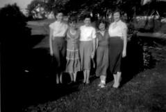 The Hite Girls and Ina - 1951 (ataribravo1) Tags: bw max jean mary wheeler ina maxine olie faye 1951 boswell hite lawanda