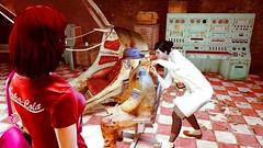 59 (Beth Amphetamines) Tags: old pink red wallpaper black hair robot screenshot lab cola good coat nick den tshirt valentine redhead trenchcoat purse doctor synth memory weathered fedora cyborg neighbor satchel lizzy detective shoulderbag nuka amari fallout4