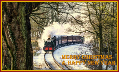 Merry Christmas!! (Blaydon52C) Tags: christmas new winter snow season landscape happy photo flickr year engine rail railway steam merry tanfield