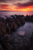 Sunrise at the Cap d'Antibes ( France ) (Yannick Lefevre) Tags: longexposure sea seascape france clouds sunrise landscape nikon rocks europe cotedazur raw nef tripod provence nikkor paysage manfrotto hoya rockscape capdantibes frenchriviera d300 alpesmaritimes nd400 poselongue nd8 ndx400 photoshopcc lightroomcc