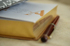 Letter A (adelina_tr) Tags: letter book pen macro 7dwf 7dayswithflickr dof nikkor40mm nikond5300