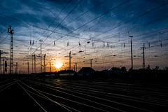 Dortmund Hbf (Job I) Tags: dortmund hbf central station trains wires rails sunset sky dark city urban architecture landscape germany ruhrgebiet europe industrial industry