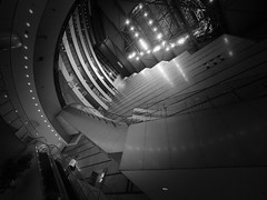 Urban Isolation (marco ferrarin) Tags: acros fukuoka japan building atrium city architecture urban night light isolation