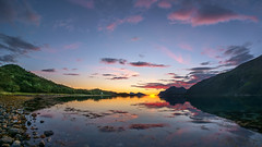 night in Kattfjord (John A.Hemmingsen) Tags: tromso summer august night midnight landscape sea fjord fujifilm samyang fisheye 8mm xe1 sunset clouds