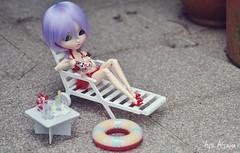 Summer?! O.o' (Au Aizawa) Tags: pullip celsiy japanese fashion doll rement mickey disney sanrio littletwinstars icecream shoes bikini