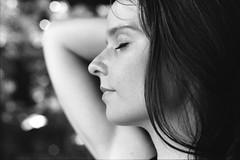 (Juliet Alpha November) Tags: ilford pan 100 analogue analog 35mm bw sw bokeh portrait portrt face profile gesicht profil epherea jan meifert